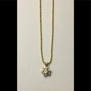 Jewelry - 18KYGP 1 Ct. Marquise & Round Pinwheel CZ Necklace